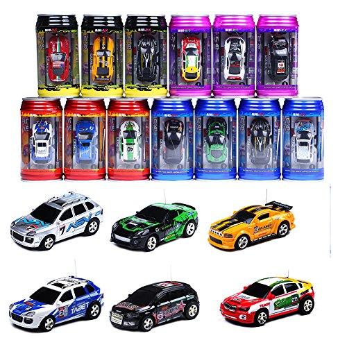 Preisvergleich Produktbild [Zufallsfarbe]Mini RC Raser ferngesteuertes 1: 63 Auto, Coladose Verpackung, Fernsteuerung mit Ladefunktion inkl. Zubehör