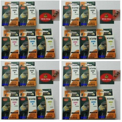 20 ESMOnline Druckerpatronen MIT Füllstandsanzeige komp. zu Canon Pixma MG5150 MG5250 MG6150 MG8150 PGI-525BK CLI-526C CLI-526M CLI-526Y CLI-526BK