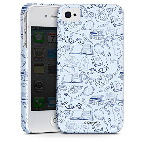 Apple iPhone X Silikon Hülle Case Schutzhülle Die Schöne und das Biest Muster Disney Premium Case glänzend
