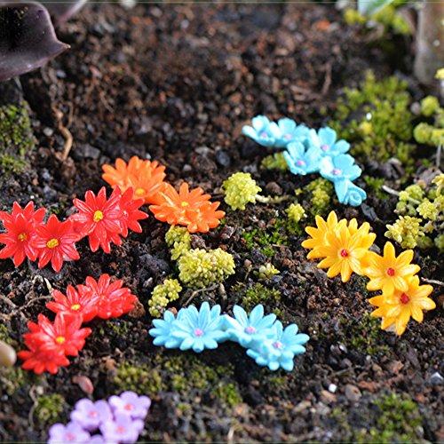 Yintiod Neue 10 Stücke Miniatur Blume Moos Bonsai DIY Handwerk Fee Garten Landschaft Decor - Fee-bett-satz