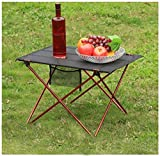 Outdoor Camping Table Ultralight Portable Folding Oxford Fabric Table Garden Hiking Picnic Desk (Red)