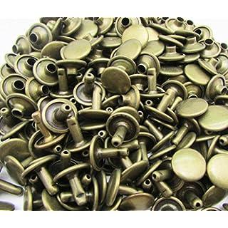 amanteao Bronze Double Cap Nieten Flugzeug Gap 10mm und Post 8mm 100Stück Sets