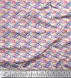 Soimoi Rosa Georgette Viskose Stoff tarnen Textur Stoff