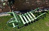 Offene Holz-Schubkarre, Gartendeko Karre zum Bepflanzen, Blumentöpfe, Pflanzkübel, Pflanzkasten, Blumenkasten, Pflanzhilfe, Pflanzcontainer, Pflanztröge, Pflanzschale, Schubkarren 120 cm HSOF-120-MOOSGRÜN Blumentopf, Holz, moosgrün grün amazon natur Pflanzgefäß, Pflanztöpfe Pflanzkübel