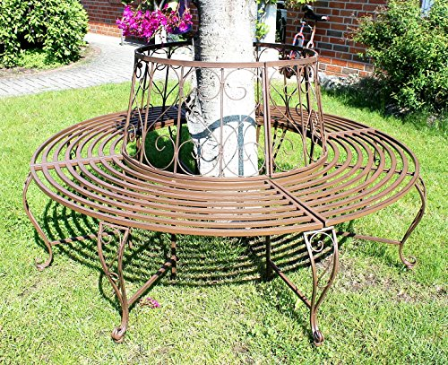 DanDiBo 120749 Rundbank Metall Wetterfest Garten Bank Ø 160 cm H-84 cm