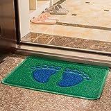 60 * 90cm Türmatten Matratzen Füße Jia Drahtmatten Toilette Toilette Fuss-Auflage-wasserdichte Anti-Rutsch-Matten Wohnzimmer geriebene Mat ( farbe : Blue Green )