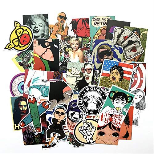 50 512 Dumm Film Europäischen Und Amerikanischen Zeichen Wind Graffiti Aufkleber Notebook Gepäck Skateboard Aufkleber