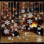160pz Adesivi Finestre Fiocco di Neve Decorativo Murali Natalizie Decorazioni per Inverno Vetrina Natale Finestra Vetrine Vetro Negozio Bar 5 Fogli