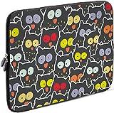 Sidorenko Laptop Tasche für 15 - 15,6 Zoll | Universal Notebooktasche Schutzhülle | Laptoptasche aus Neopren, PC Computer Hülle Sleeve Case Etui, Grau