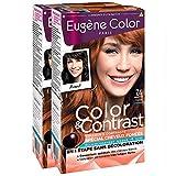 Eugène Color Color & Contrast Coloration Permanente pour Cheveux Foncés Cuivré 7,4 - Lot de 2