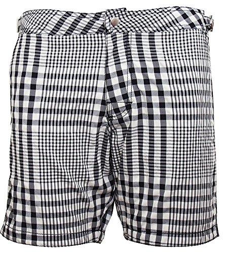 hm-mens-black-white-checked-swim-shorts-with-mesh-lining