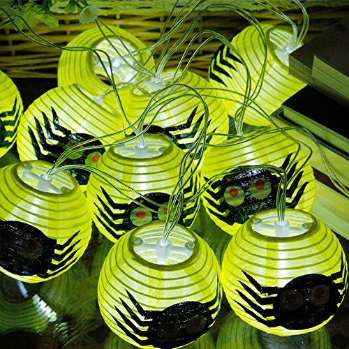 Halloween Dekoration Batterie Lichterkette, Morbuy Laterne Entwurf 2.3m /10LED Warmweiß Licht Deko Lampe (Cartoon Spinne) (Halloween Cartoon Grabsteine)