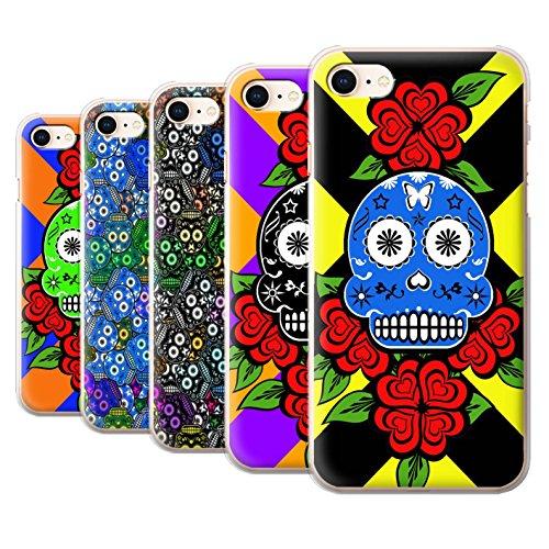 Stuff4 Hülle / Case für Apple iPhone 8 / Türkis Muster / Süßigkeiten Schädel Kollektion Pack 13pcs