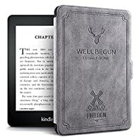 Zerobox Slim Case for Kindle Paperwhite E-reader Smart Stand Cover Screen Protective with Auto Sleep/Wake Function,fit for Kindle Paperwhite 958 (2012, 2013, 2015) Versions (Grey)