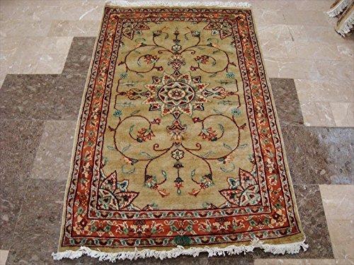 ahmedani Blumen Medaillon Marke New Classic Design Rechteck Bereich Teppich Wolle Seide handgeknotet Teppich (5x 3) '