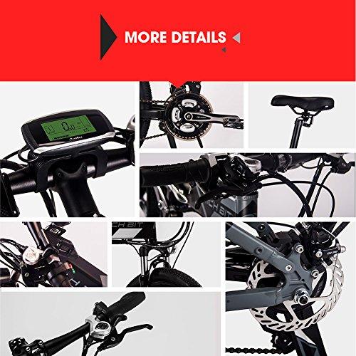 61qFN3zkw2L. SS500  - eBike_RICHBIT 860 Men Folding Electric Bike 17 X 26 Inch Mountain Bike Full Suspension 250 W 36V 12.8AH ebike