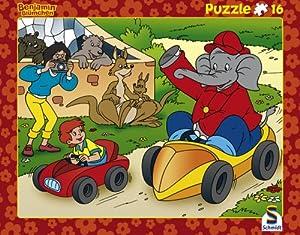 Schmidt Spiele  - Benjamin The Elephant, 16 Piezas de Puzzle Marco