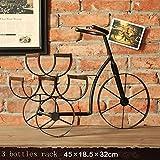 LIXIONG botellero para 3/5/8 Porta Botellas Arte de hierro Retro Estantes de exhibición , 3 tipos de estilos ( Color : #3 )