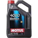 Motul 4000 Motion Engine Lubricant Oil, 5 Liters - 15W50