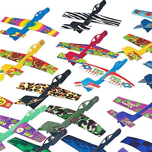 German Trendseller® - 6 x Flugzeuge Mix NEU ┃ 16 cm ┃ Kindergeburtstag ┃ Wurf -Gleiter ┃ Mitgebsel ┃ 6 Stück