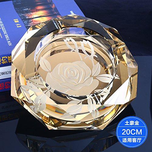 ssby Kristall Aschenbecher Wohnzimmer hochwertigem Luxus Glas Aschenbecher kreative Persönlichkeit Trend - a