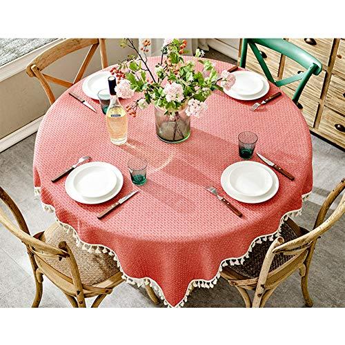 mwolle Leinen Kunst Einfarbig Hause Tischdecke Blau Rot,Red,180 * 180Cm ()