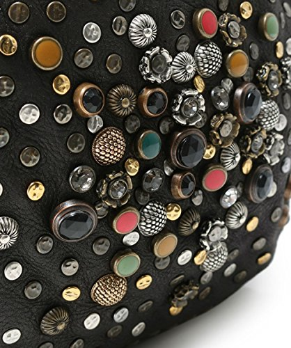 Grau Damen Leder Tasche Grau Bowling verzierte aus Campomaggi Zanx00