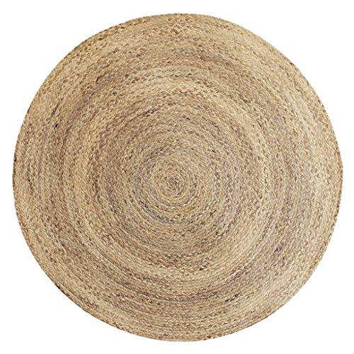 KYDJ Wasser, Schilf Handgemachte Gras runden Teppich Wohnzimmer Schlafzimmer Matten (Größe: Durchmesser 120cm)