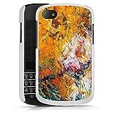 Blackberry Q10 Hülle Schutz Hard Case Cover Ölfarbe