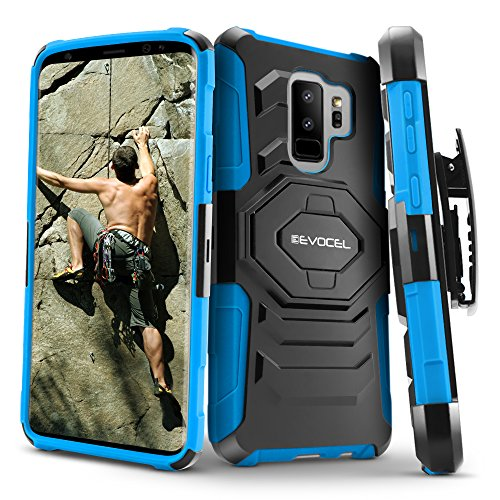 Galaxy S9Plus Fall, evocel [New Generation] Rugged Holster Dual Layer Case [Ständer] [drehbarem Gürtelclip] für Samsung Galaxy S9Plus (sm-g965), Blau (Samsung Metropcs-handys Galaxy)