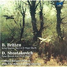 Britten : String Quartet No. 1, Chostakovitch : Piano Quintet