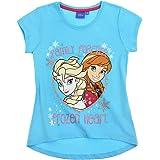 La Frozen - Camiseta de manga corta para niña, color azul