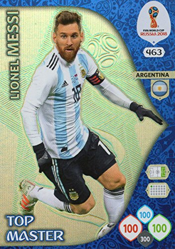 Adrenalyn XL FIFA World Cup 2018 Rusia – Lionel Messi parte superior Master Trading Card – Argentina # 463
