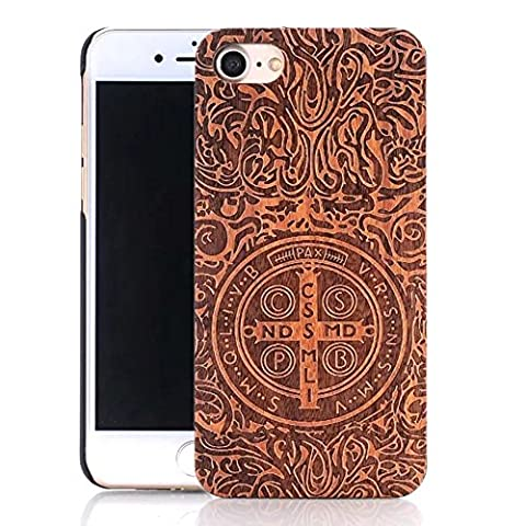Bois Wood Coque iPhone 6 6S Coque,Vandot iPhone 6 6S Coque Housse étui de Protection pour iPhone 6 6S Case Naturel Bois Wood Case Etui Coquille Natural Original Bois Wood Material Coque