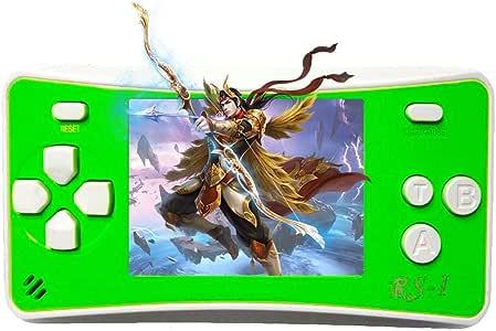 takestop/® Console Light 3000 Jeu R/étro Vid/éo Jeux vid/éo 2 Cartes Jeu Portable PVP Display LCD avec C/âble AV Couleur Al/éatoire