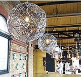 GOWE Etch Web colgante luz lámpara diámetro 40cobre plata comedor restaurante Suspensión de acero inoxidable iluminación Fixture cuerpo color: D40cm cobre