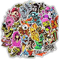 Skeleton Horror Stickers Pack [50pcs) Halloween Zombies Stickers For Children Laptop,Kids,Cars,Motorcycle,Bicycle,Skateboard,Suitcase,Luggage,Bumper Nature World Travel Stickers bomb