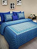 #10: Jaipur To Home Original Jaipuri Print 100% Pure Cotton King Size Bedsheet For Double Bed With 2 Pillow Covers (Jaipur Bedspreads)