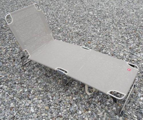 Amigo chaise longue taupe