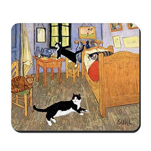 CafePress-Vincent 's-Katzen-Rutschfester Gummi-Mauspad, Gaming Maus Pad -