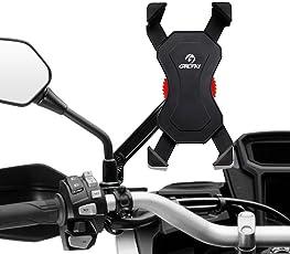 Motorrad Handyhalterung Grefay Universal Smartphone Halterung für Motorrad Rückspiegel 360° Drehbare