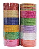 #7: MAA AMBIKA 12 Color Plain Bangles in Box For Women