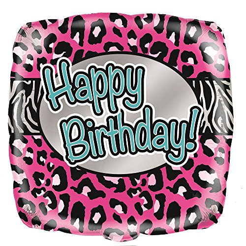 Unique Party Supplies 45,7 cm Folie Pink Animal Print Geburtstag Ballon - Folie Animal-print