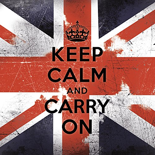 Apple iPhone 5c Case Skin Sticker aus Vinyl-Folie Aufkleber Keep calm and carry on Sprüche England Flagge DesignSkins® glänzend