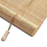 Bambusrollo- Natürlicher Raffrollo Roman Sun Shade, Rollo (beliebige Größen: 50-120cm breit und 90-200cm hoch) (Farbe : Flat Curtain, größe : 60x180cm)