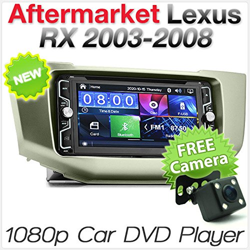 tunez In-Dash Doppel Din Video Auto USB MP4 CD DVD MP3 Player Für Aftermarket Toyota Harrier ACU30 Lexus RX300 RX350 XU30 2003 2004 2005 2006 2007 2008 Touchscreen Radio Stereo Kit.