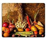 MSD Mousepad Bild 26962394L Stillleben Fotografie mit Kürbis Gewürze Kräuter Gemüse und Obst für Kochen 6615