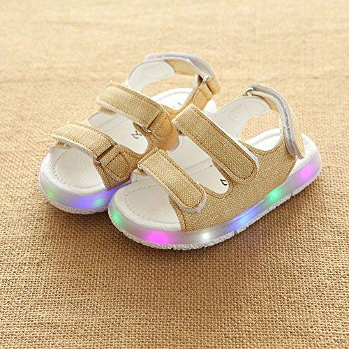 7dbc326279 Scarpe chiare del LED dei sandali delle ragazze dei ragazzi del bambino  bianca Size 21
