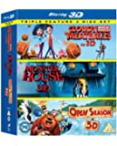 Cloudy With a Chance of Meatballs/ Monster House / Open Season Triple Pack (Blu-ray 3D) [Region Free]