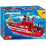 PLAYMOBIL 3128 - Barco de bomberos con bomba a presión